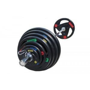 Штанга профессиональная обрезиненная на 145 кг RN-Sport Fts