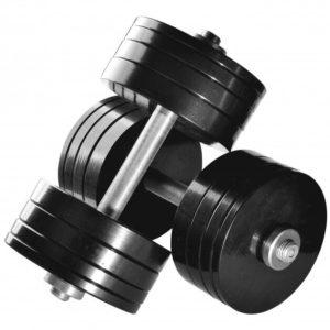 Гантели разборные стальные Rn-Sport 2 шт по 32 кг окрашенные