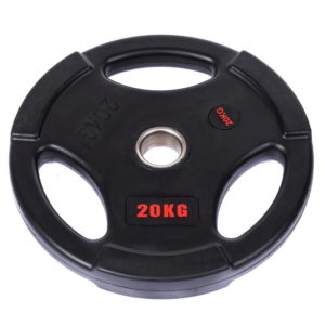 Блины (диски) обрезиненные с тройным хватом d-51мм Life Fintess  20кг (черный)