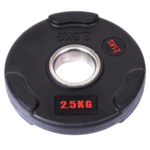Блины (диски) обрезиненные с тройным хватом  d-51мм Life Fintess  2,5кг (черный)