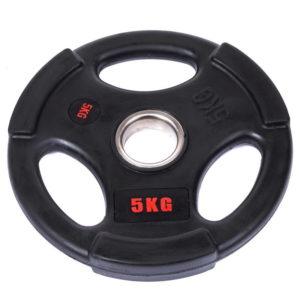 Блины (диски) обрезиненные с тройным хватом  d-51мм Life Fintess 5кг (черный)