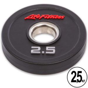 Блины (диски) полиуретановые  d-51мм Life Fitness  2,5кг