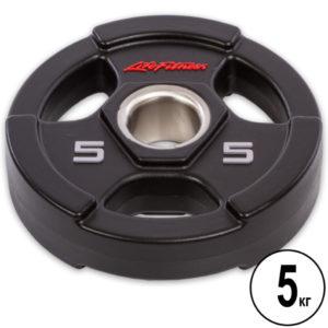 Блины (диски) полиуретановые  d-51мм Life Fintess  5кг