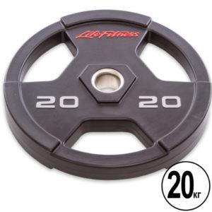 Блины (диски) полиуретановые  d-51мм Life Fintess  20 кг