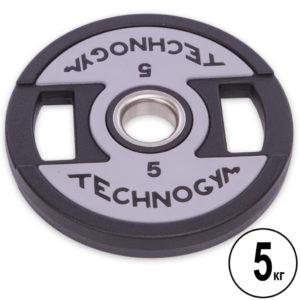 Блины (диски) полиуретановые d-51мм Technogym 5 кг