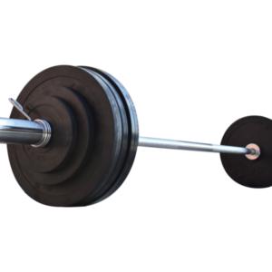 Штанга для жима обрезиненная RN-Sport 105 кг с олимпийским грифом 220 см