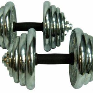 Гантели разборные хромированные - 15 кг