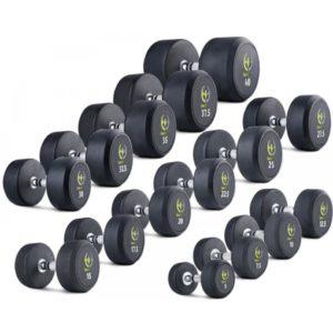 Гантельный ряд обрезиненный 5 - 40 кг