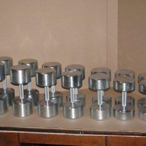 Гантельный ряд оцинкованный от 10 до 22 кг