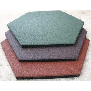 Модульное резиновое шестиугольное покрытие для залов