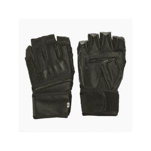 Перчатки с открытыми пальцами кожвинил