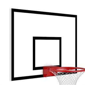 Баскетбольный щит 1000х800 мм металлический