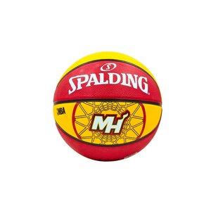 Мяч баскетбольный резиновый №7 Spalding NBA Team Heat