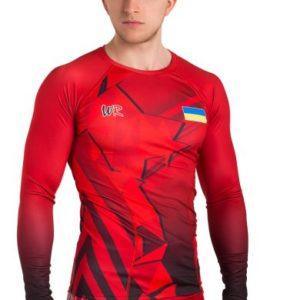 Компрессионное белье Стекло, красное (рашгард + лосины)