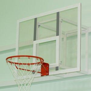 Баскетбольный щит 1000х800 мм