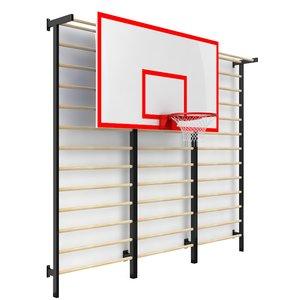 Щит баскетбольный навесной с зацепами