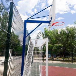 Баскетбольная стойка на одной опоре усиленная