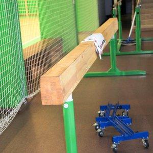 Бревно гимнастическое 5 м с регулировкой по высоте