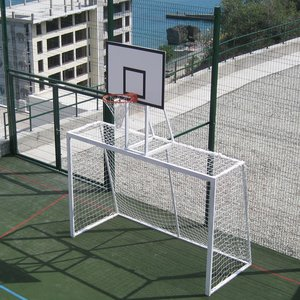 Ворота для мини-футбола и гандбола с баскетбольным щитом