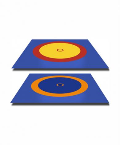 Борцовский ковер 12*12м цветной с матами 40 мм