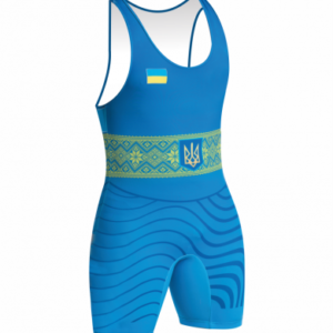 Детское борцовское трико сборной Украины синее