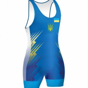 Детское трико сборной Украины 2016 синее для борьбы