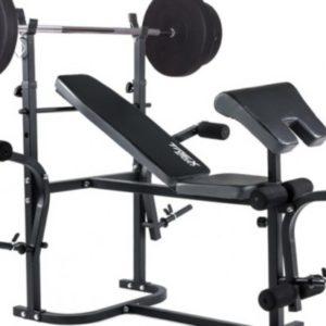 Скамья для жима + Штанга с прямым грифом 50 кг RN-Sport