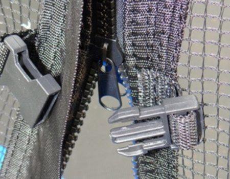 Батут SkyJump 366 с защитной сеткой и лестницей