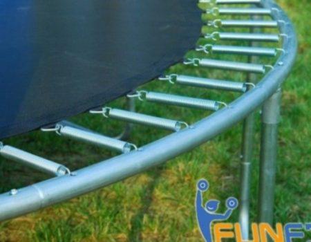 Батут детский 427 см с внешней защитной сеткой и лестницей