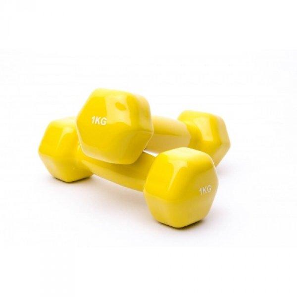 Гантели аэробные виниловые 1 кг - 2шт Fitnessport VDD-01-1k