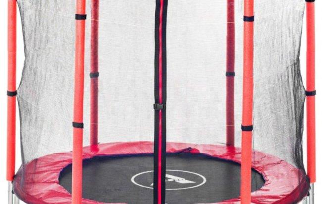 Батут Atleto 140 см с сеткой красный