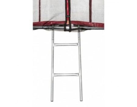Батут Atleto 374 см с двойными ногами красный