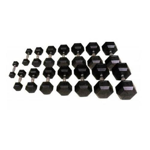 Шестигранные прорезиненные гантели Hexagon от 12.5 до 50 кг