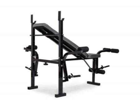 100 кг блинов + 4 грифа + скамья для жима складная RN-Sport