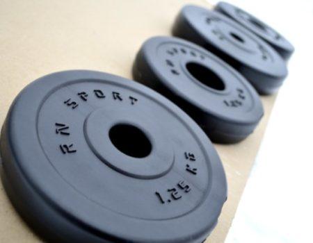Скамья для жима + набор штанг 115 кг RN-Sport + ГИРЯ в подарок