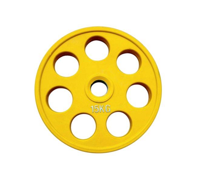 Диск олимпийский обрезиненный  alex 15 кг
