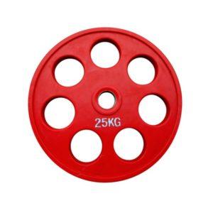 Диск олимпийский обрезиненный  alex 25 кг