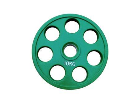 Штанга обрезиненная с цветными дисками на 105 кг RN-Sport
