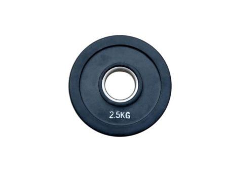 Штанга обрезиненная с цветными дисками на 125 кг RN-Sport