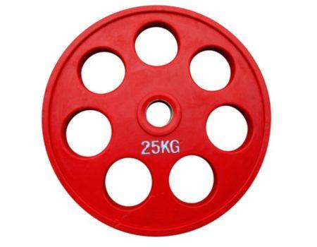 Штанга обрезиненная с цветными дисками на 185 кг RN-Sport