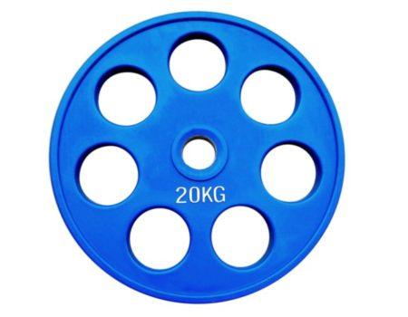 Штанга обрезиненная с цветными дисками на 225 кг RN-Sport