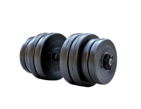 Гантель StrongMan на 31 кг от RN-Sport + расширитель грифа