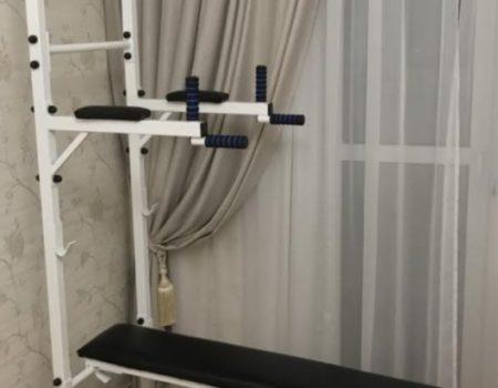 Комплекс (5в1) 40х40 мм- Скамья для жима, турник, пресс, брусья 1