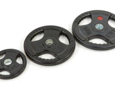 Блин (диск) обрезиненный 10кг с тройным хватом и металлической втулкой d-52мм TA-8122-10  (черный)