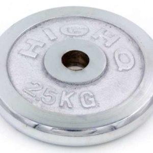 Блин (диск) хромированный d-30мм HIGHQ SPORT ТА-1451 2,5кг (металл хромированный)