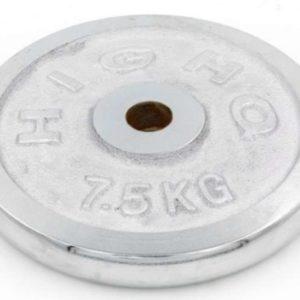 Блин (диск) хромированныq d-30мм HIGHQ SPORT TA-1453 7,5кг (металл хромированный)