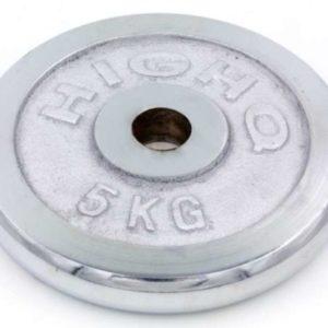 Диск для штанги хромированный 30 мм HIGHQ SPORT ТА-1452 5 кг