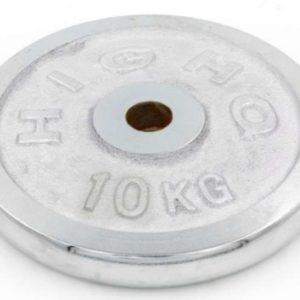 Блины (диски) хромированные d-30мм HIGHQ SPORT ТА-1454 10кг (металл хромированный)