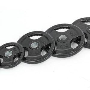 Блины (диски) обрезиненные с тройным хватом и металлической втулкой d-52мм 2,5 кг - 20 кг