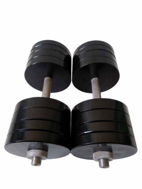 Гантели разборные по 38 кг (Сталь) с порошковой покраской